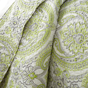 Reversible Green Pure Melody Microfiber Quilt and Sham Set by Southshore Fine Linens Image 2