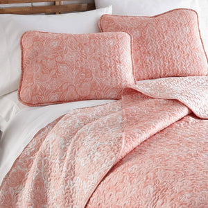 Reversible Coral Haze Perfect Paisley Microfiber Quilt and Sham Set by Southshore Fine Linens Image 2