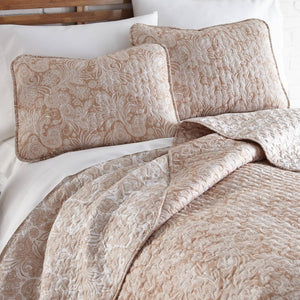 Reversible Taupe Perfect Paisley Microfiber Quilt and Sham Set by Southshore Fine Linens Image 2