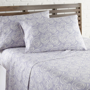 Soft and Comfortable Lavender Whimsical Swirls Microfiber Sheet and Pillowcase Set by Southshore Fine Linens Image 2