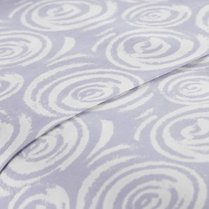 Soft and Comfortable Lavender Whimsical Swirls Microfiber Sheet and Pillowcase Set by Southshore Fine Linens Image 3
