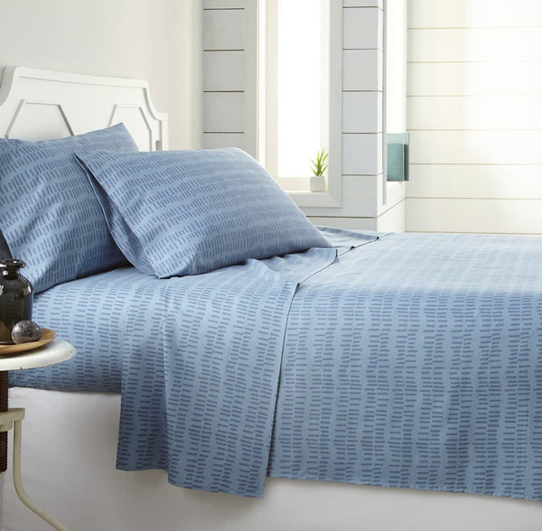 Soft and Comfortable Blue Urban Marks Microfiber Sheet and Pillowcase Set by Southshore Fine Linens Main Image
