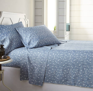 Soft and Comfortable Blue Confetti Microfiber Sheet and Pillowcase Set by Southshore Fine Linens Main Image