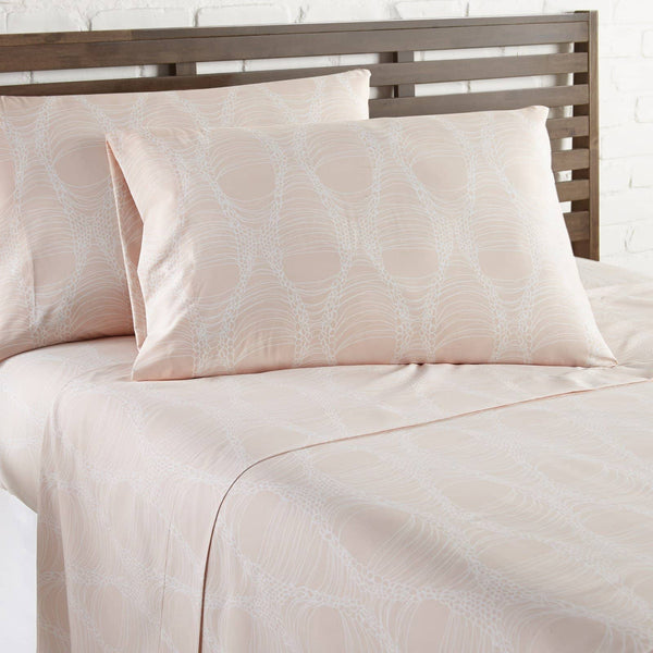 Soft and Comfortable Peach Abstract Haze Microfiber Sheet and Pillowcase Set by Southshore Fine Linens Image 2