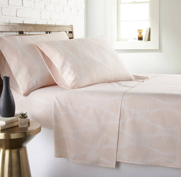 Soft and Comfortable Peach Abstract Haze Microfiber Sheet and Pillowcase Set by Southshore Fine Linens Main Image