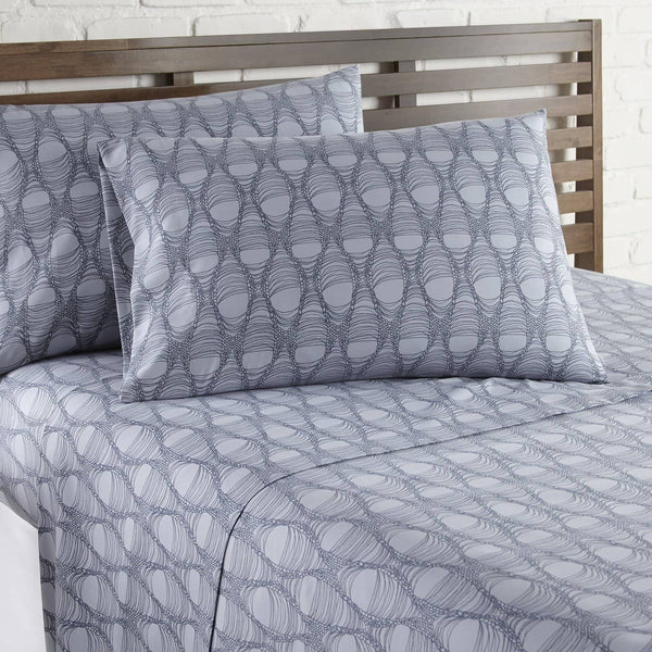 Soft and Comfortable Grey Abstract Haze Microfiber Sheet and Pillowcase Set by Southshore Fine Linens Image 2