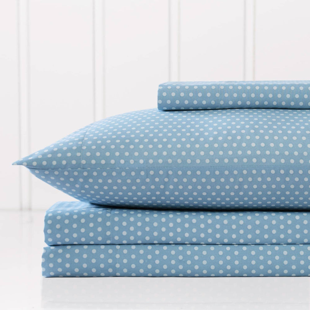 Faded Dots Sheet Set in Blue