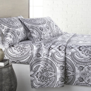 Reversible Black Pure Melody Microfiber Sheet and Pillowcase Set by Southshore Fine Linens Main Image