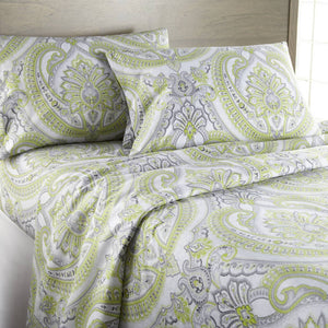 Reversible Green Pure Melody Microfiber Sheet and Pillowcase Set by Southshore Fine Linens Image 2