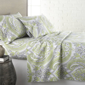 Reversible Green Pure Melody Microfiber Sheet and Pillowcase Set by Southshore Fine Linens Main Image