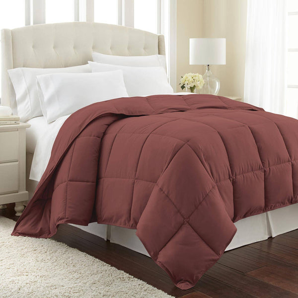 All-Season Classic Plush Down Alternative Comforters by Vilano Springs in Marsala