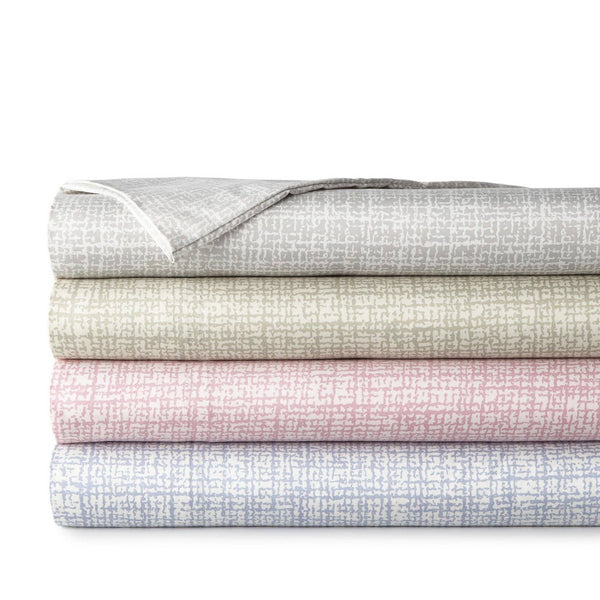 Soft and Comfortable Muted Mesh Microfiber Sheet and Pillowcase Set by Southshore Fine Linens Stack Image