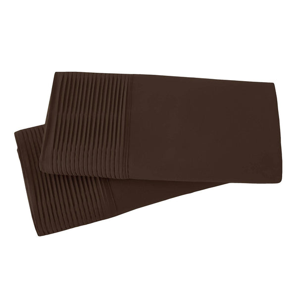 Vilano Springs Pleated Hem Pillow Cases in Brown