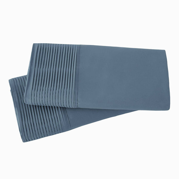 Vilano Springs Pleated Hem Pillow Cases in Coronet Blue