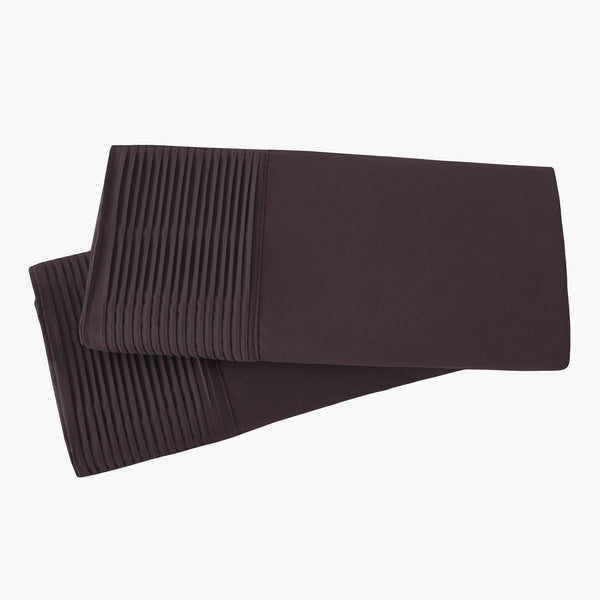 Vilano Springs Pleated Hem Pillow Cases in Purple