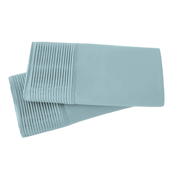 Vilano Springs Pleated Hem Pillow Cases in Sky Blue