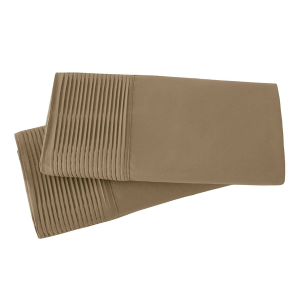 Vilano Springs Pleated Hem Pillow Cases in Taupe