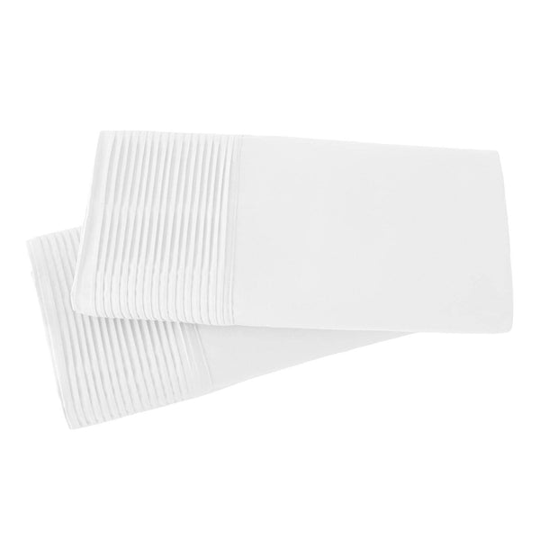 Vilano Springs Pleated Hem Pillow Cases in White