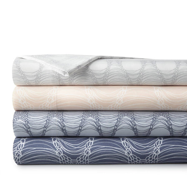 Soft and Comfortable Abstract Haze Microfiber Sheet and Pillowcase Set by Southshore Fine Linens Stack Image