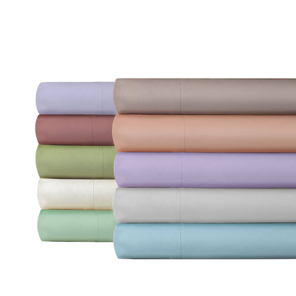 Extra-Soft Springtime Pastels Solid Color Brushed Microfiber Deep Pocket 6-Piece Sheet Set