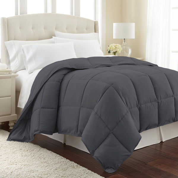 All-Season Classic Plush Down Alternative Comforters by Vilano Springs in Slate
