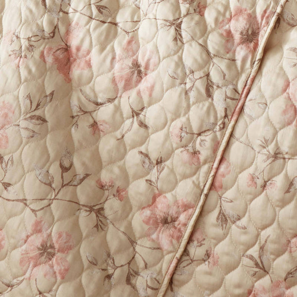 Mystic Garden 100% Cotton Sateen Quilt Set in Mystic Soft Sand
