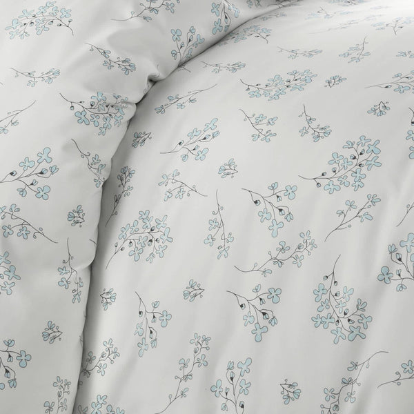 cream floral print farmhouse duvet cover set