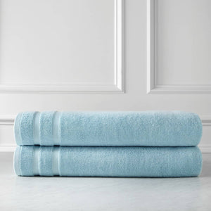 Classic Combed Cotton Soft and Luxury Light Blue Towel Set by Southshore Fine Linens Main Image