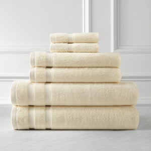Classic Combed Cotton Soft and Luxury Cream Towel Set by Southshore Fine Linens Main Image
