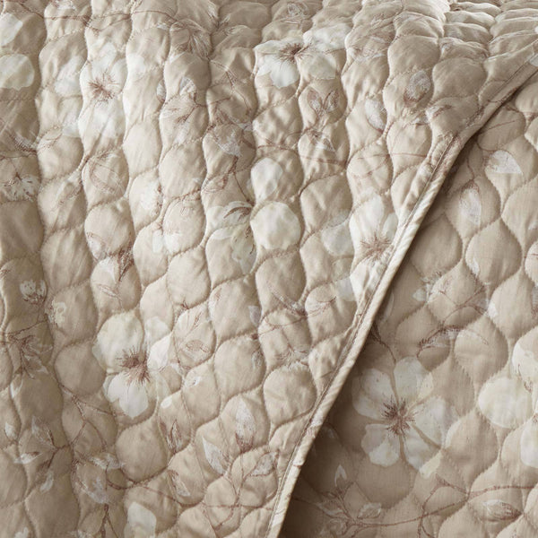 Mystic Garden 100% Cotton Sateen Quilt Set in Mystic Taupe Grey