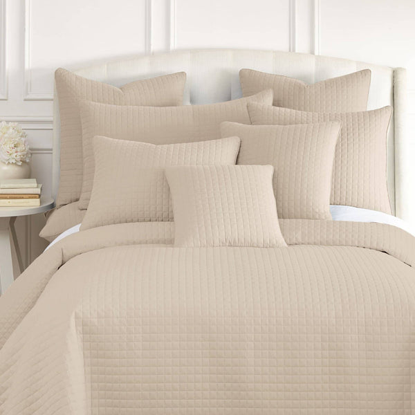 Vilano Quilted Shams in Bone