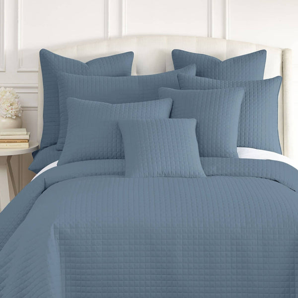 Vilano Quilted Shams in Coronet Blue