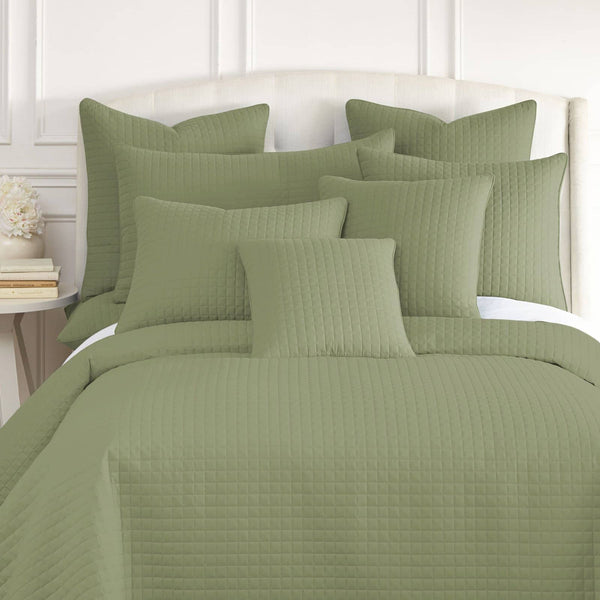 Vilano Quilted Shams in Sage Green