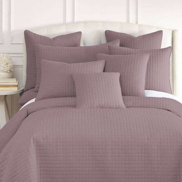 Vilano Quilted Shams in Lavender