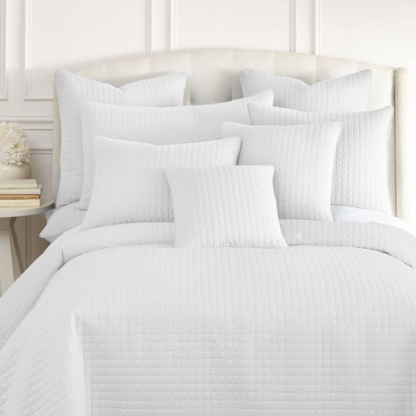 Vilano Quilted Shams in White