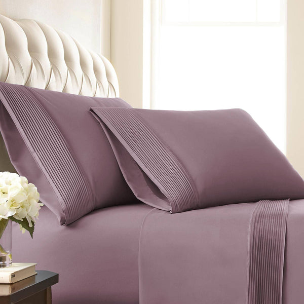Vilano Springs Pleated Hem Pillow Cases in lavender