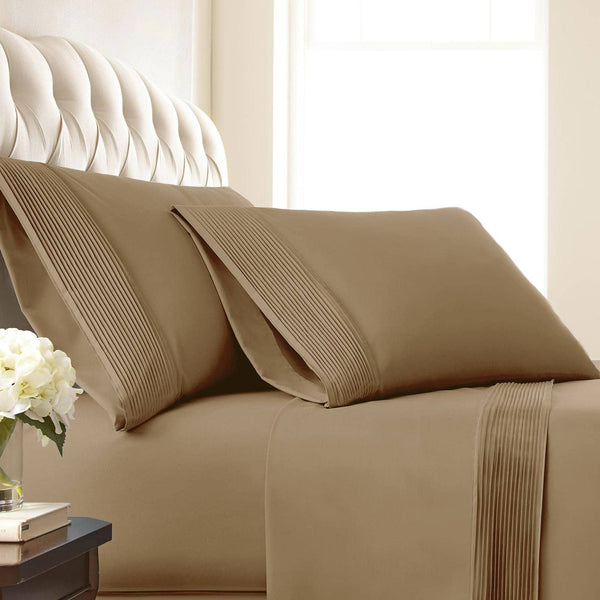 Soft and Luxurious Extra Deep Pocket Pleated Sheet Sets by Vilano Springs