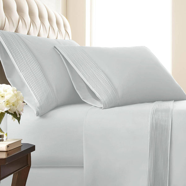 Vilano Springs Pleated Hem Pillow Cases in Bright White