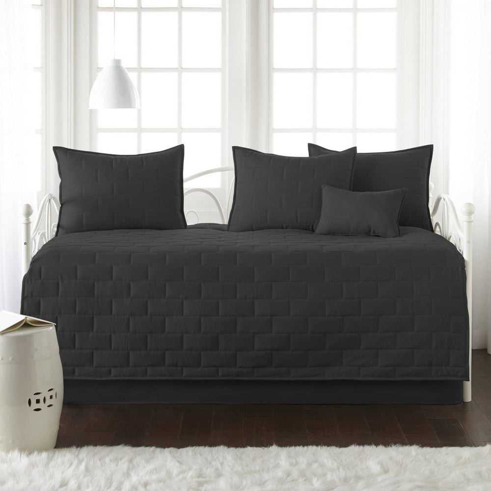 Comfortable and Cozy Black Brickyard Daybed and Sham Set by Southshore Fine Linens Main Image