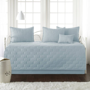 Comfortable and Cozy Sky Blue Brickyard Daybed and Sham Set by Southshore Fine Linens Main Image