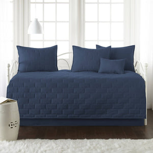 Comfortable and Cozy Dark Blue Brickyard Daybed and Sham Set by Southshore Fine Linens Main Image