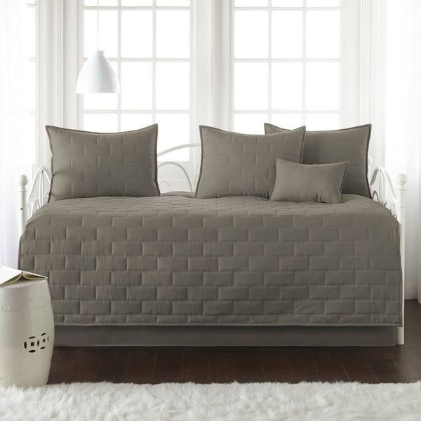 Comfortable and Cozy Dark Taupe Brickyard Daybed and Sham Set by Southshore Fine Linens Main Image