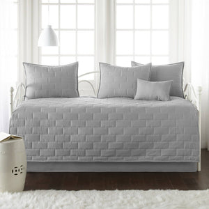 Comfortable and Cozy Steel Gray Brickyard Daybed and Sham Set by Southshore Fine Linens Main Image