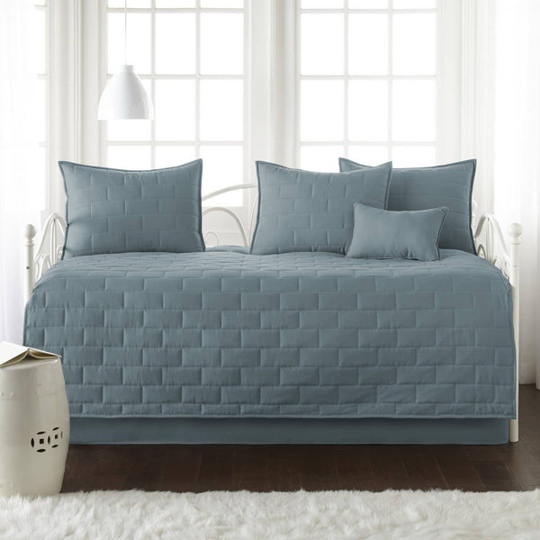 Comfortable and Cozy Teal Brickyard Daybed and Sham Set by Southshore Fine Linens Main Image