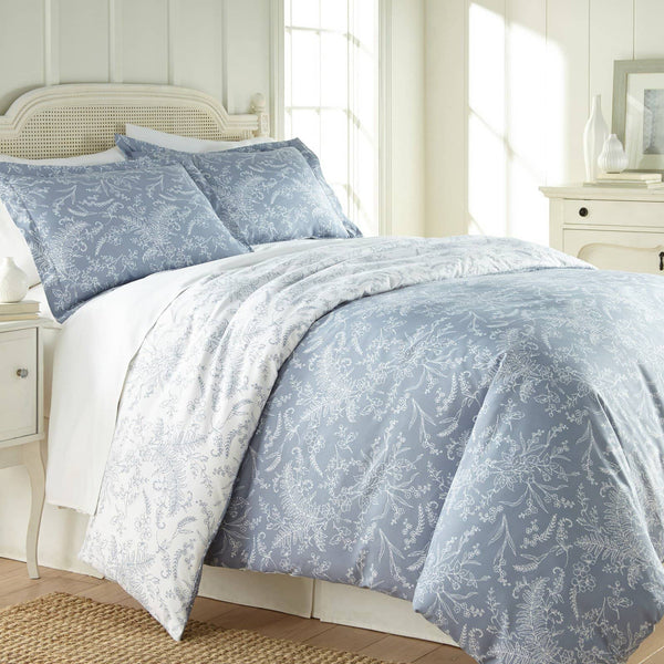 Reversible Blue Winterbrush Microfiber Comforter and Sham Set by Southshore Fine Linens Main Image