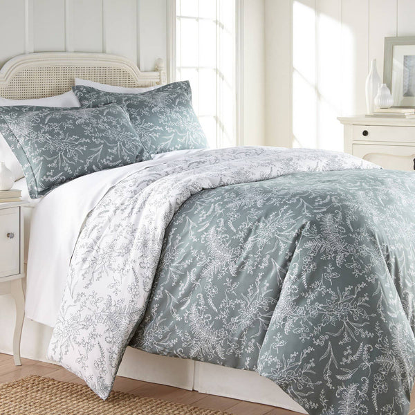 Reversible Teal Winterbrush Microfiber Comforter and Sham Set by Southshore Fine Linens Main Image