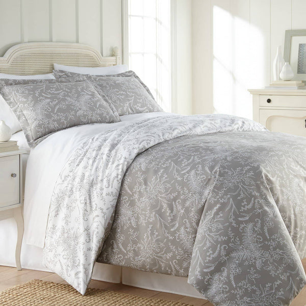 Reversible Steel Gray Winterbrush Microfiber Comforter and Sham Set by Southshore Fine Linens Main Image