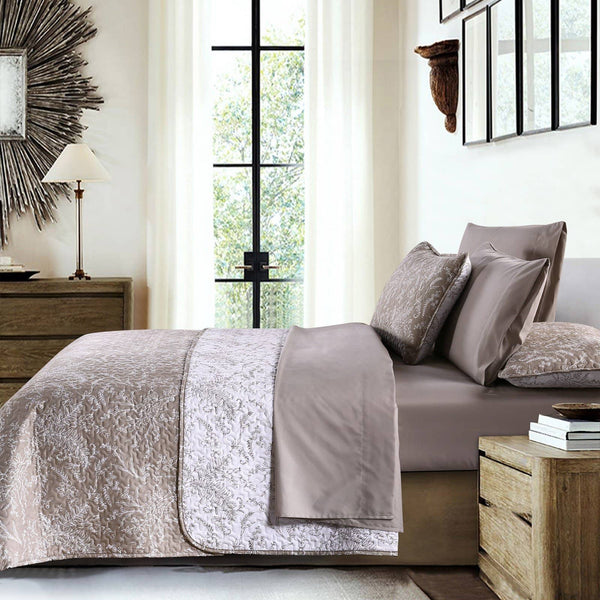 Reversible Warm Sand Winterbrush Microfiber Quilt and Sham Set by Southshore Fine Linens Image 2