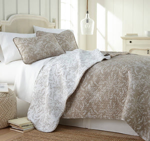 Reversible Warm Sand Winterbrush Microfiber Quilt and Sham Set by Southshore Fine Linens Main Image