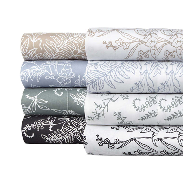Winter Brush Print Ultra Soft and Supreme Quality Sheet Set in All Colors
